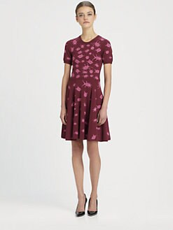 McQ Alexander McQueen - Bug Jacquard Dress