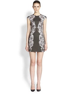 McQ Alexander McQueen - Interlock Cap-Sleeve Dress
