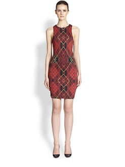 McQ Alexander McQueen - Check-Print Jersey Dress