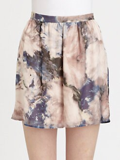 Haute Hippie - Moody Silk Floral-Print Skirt