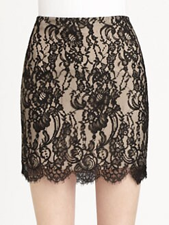 Haute Hippie - Lace Pencil Skirt