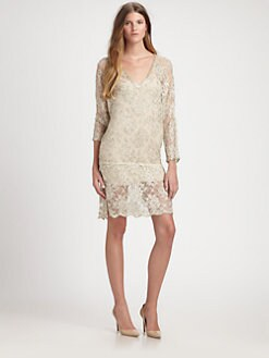 Haute Hippie - Silk Metallic Lace Dress