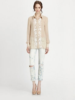 Haute Hippie - Silk Embroidered Blouse