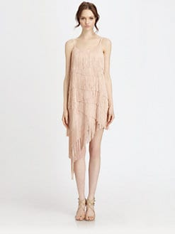 Haute Hippie - Asymmetrical Tiered Fringe Dress