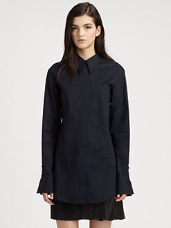 3.1 Phillip Lim - Silk Chiffon-Paneled Stretch Cotton Shirt