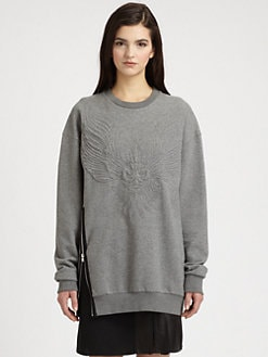 3.1 Phillip Lim - Quilted Phoenix Side-Zip Cotton Sweatshirt