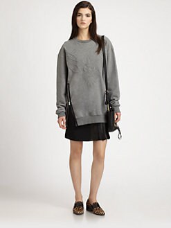 3.1 Phillip Lim - Ватиран Phoenix Side-Zip Cotton Суичър