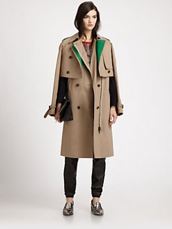 3.1 Phillip Lim - Layered Two-Piece Cotton Trenchcoat