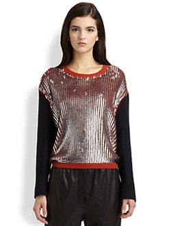 3.1 Phillip Lim - Sequined Wool-Blend Sweater