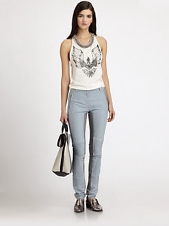 3.1 Phillip Lim - Embellished Cotton Phoenix-Print Tank