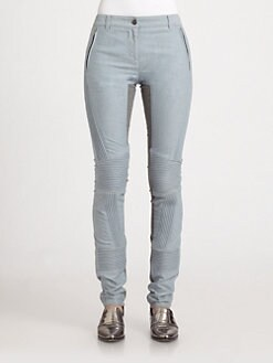 3.1 Phillip Lim - Jersey-Paneled Corded Skinny Jeans
