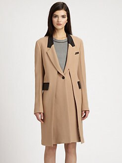 3.1 Phillip Lim - Leather-Trimmed Layered-Panel Coat
