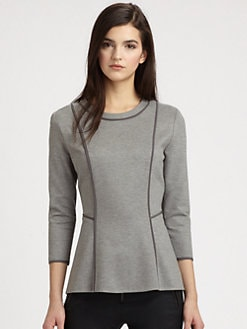 3.1 Phillip Lim - Piped Paneled Jersey Top