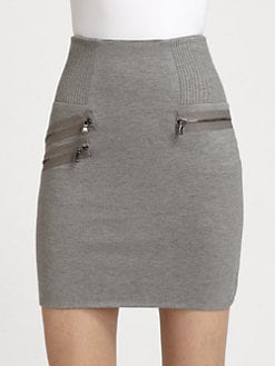 3.1 Phillip Lim - Corded Zipper-Trim Mini Skirt