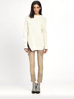 3.1 Phillip Lim - Bobble Cable-Knit Combo Sweater