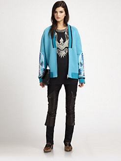 3.1 Phillip Lim - Phoenix-Embroidered Sateen Bomber