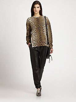 3.1 Phillip Lim - Leopard-Print Cotton Terry Sweatshirt