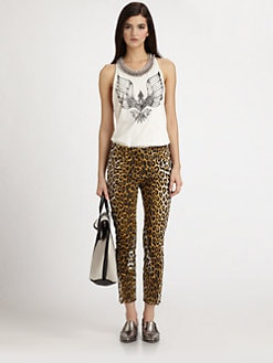 3.1 Phillip Lim - Leopard-Print Leather Skinny Jodhpur Pants