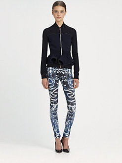 McQ Alexander McQueen - Knit Peplum Jacket
