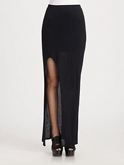 Helmut Lang - HELMUT Kinetic Jersey Slit Skirt