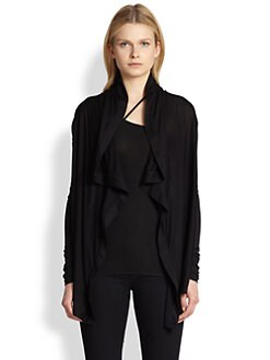 Helmut Lang - HELMUT Helmut Lang Kinetic Jersey Draped Cardigan