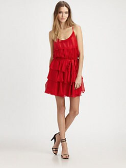Elizabeth and James - Tricia Silk Ruffle Dress