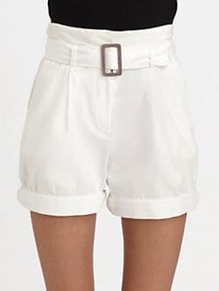 Elizabeth and James - Brady Belted High-Waist Shorts