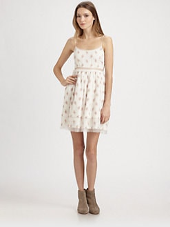 Elizabeth and James - Hannah Sheer-Trim Scoopback Dress