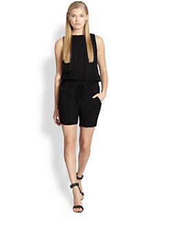 A.L.C. - Short Cutout-Back Drawstring Jumpsuit