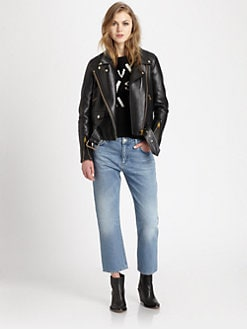 Acne - Merci Leather Biker Jacket