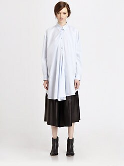 Acne - Scout Draped Cotton Boyfriend Shirt