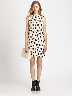 Acne Studios - Palm Lynx-Print рокля