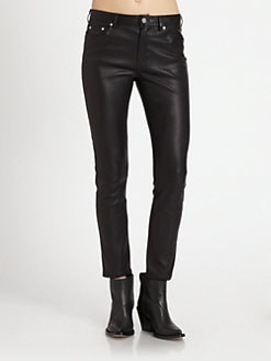 Acne - Skin 5 Leather Skinny Jeans
