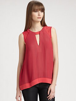 Rag & Bone - Audry Chiffon Cutout Top