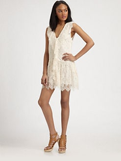 By Malene Birger - Floral Lace V-Neck Dress