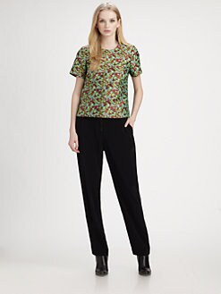 Elizabeth and James - Shell Floral Jacquard Top