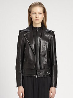 Alexander Wang - Double-Layer Leather Moto Jacket