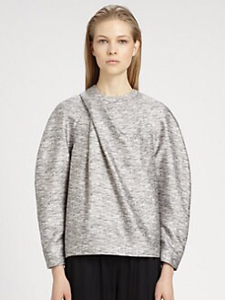 Alexander Wang - Draped-Neck Wool & Silk Sweatshirt