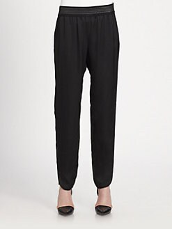 Alexander Wang - Leather-Trim Track Pants