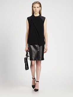 Alexander Wang - Draped Silk Muscle Tee