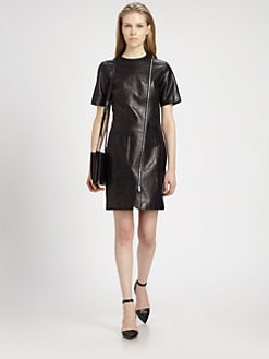 Alexander Wang - Leather T-Shirt Dress