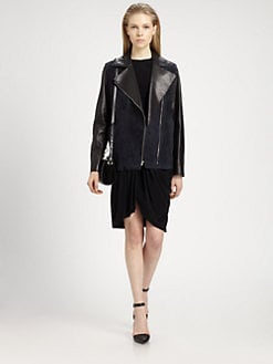 Alexander Wang - Perfecto Suede &Leather Jacket