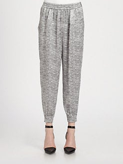 Alexander Wang - Cropped Silk Track Pants