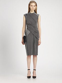 Alexander Wang - Draped Cap-Sleeve Dress