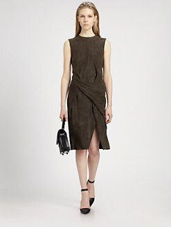 Alexander Wang - Twisted Suede Sheath Dress