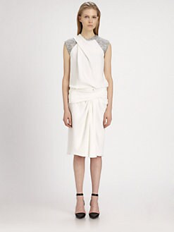 Alexander Wang - Twisted Silk Muscle T-Shirt Dress