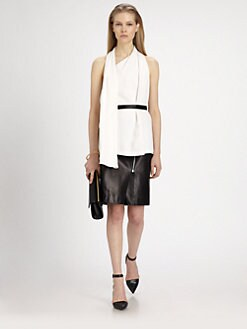 Alexander Wang - Belted Silk Scarf Top