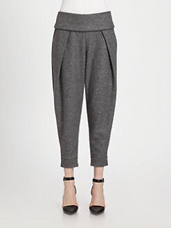 Alexander Wang - Pleated Silk-Trim Jogging Pants