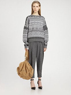 Alexander Wang - Stretch-Wool Fair Isle Sweater