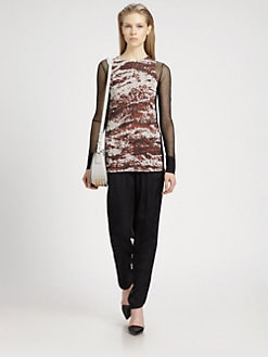 Alexander Wang - Semi-Sheer Melange Jacquard Top
